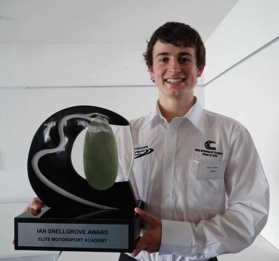 James Munro with the Ian Snellgrove Award