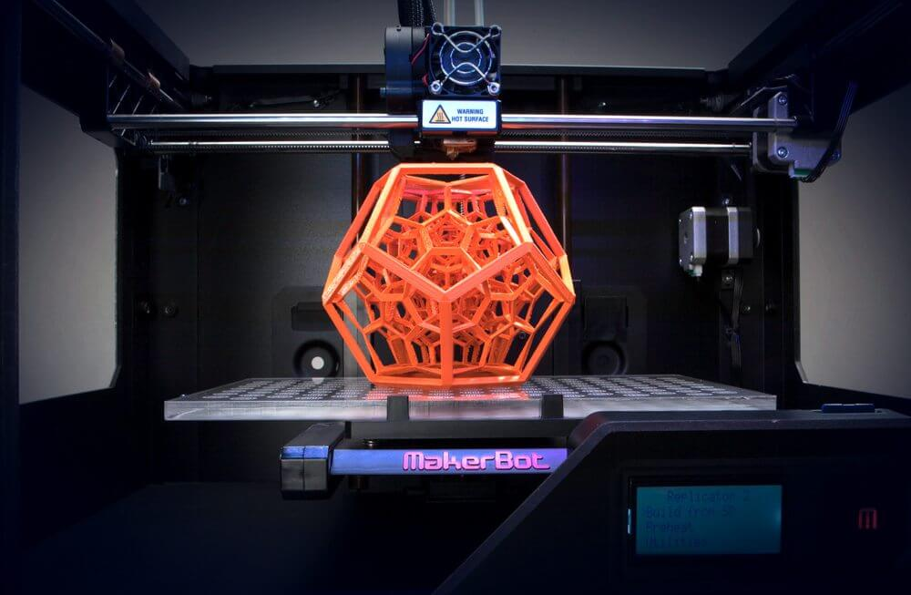 Example of 3D Printer, Image courtesy of Makerbot.com
