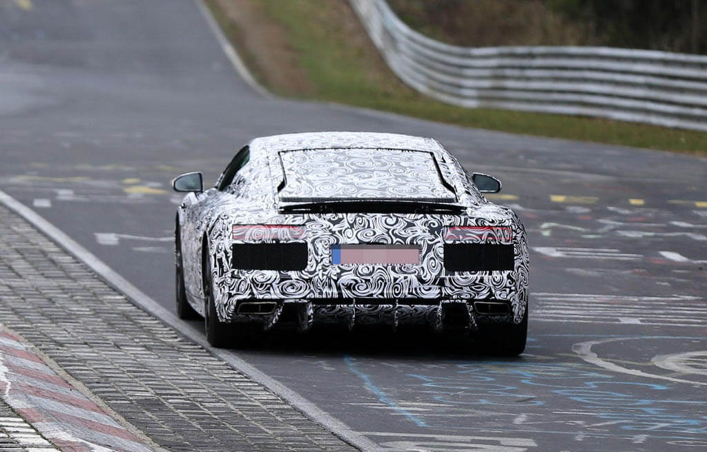 Audi R8 2015 Spy Photo Exterior Belakang