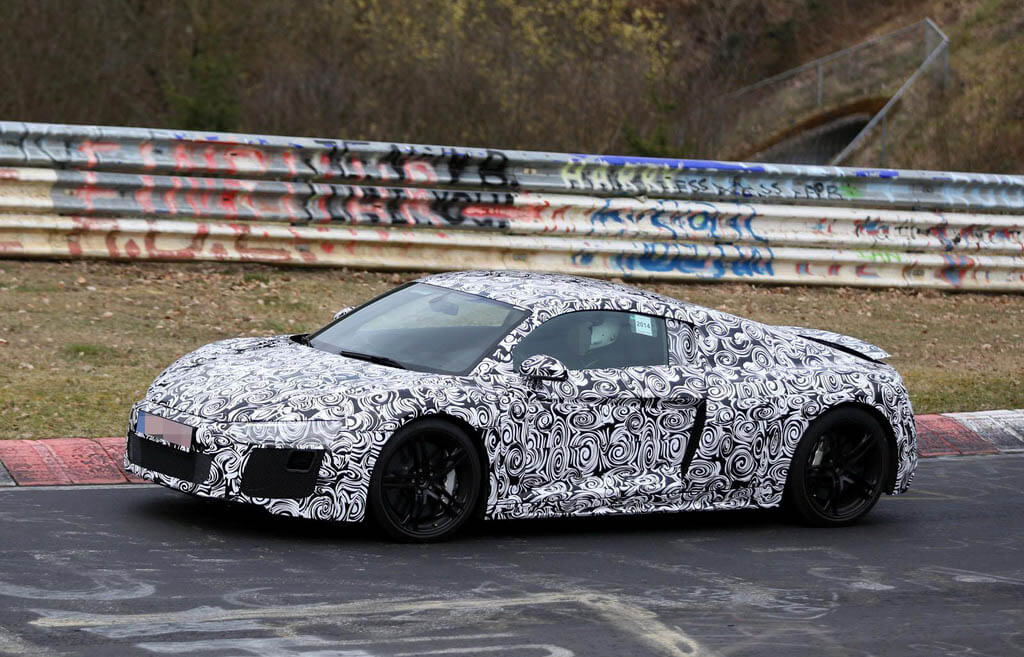 Audi R8 2015 Spy Photo Exterior Samping