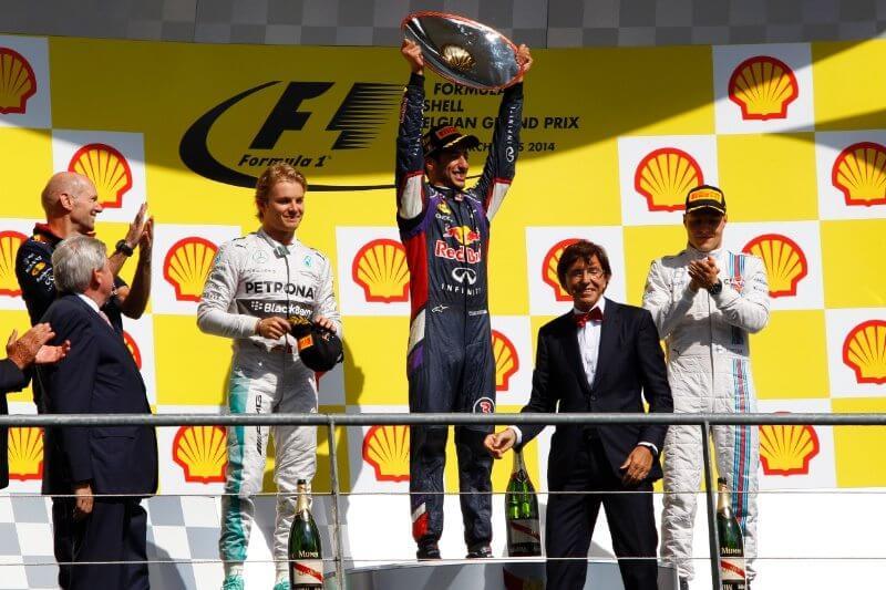 f1 2014 belgium podium
