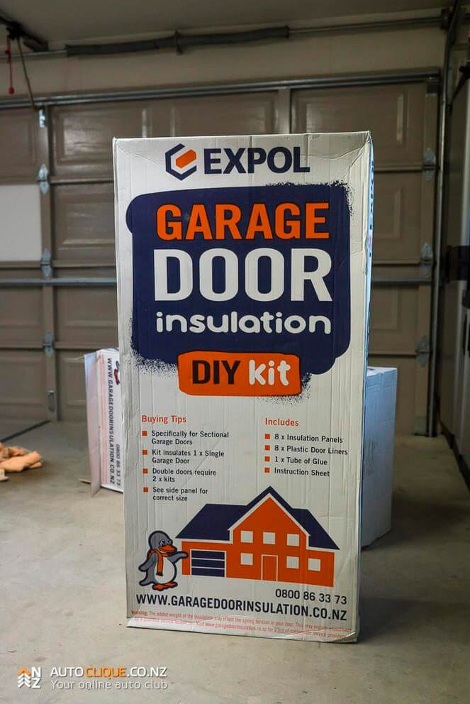 with garage insulation door panels diy pin batt