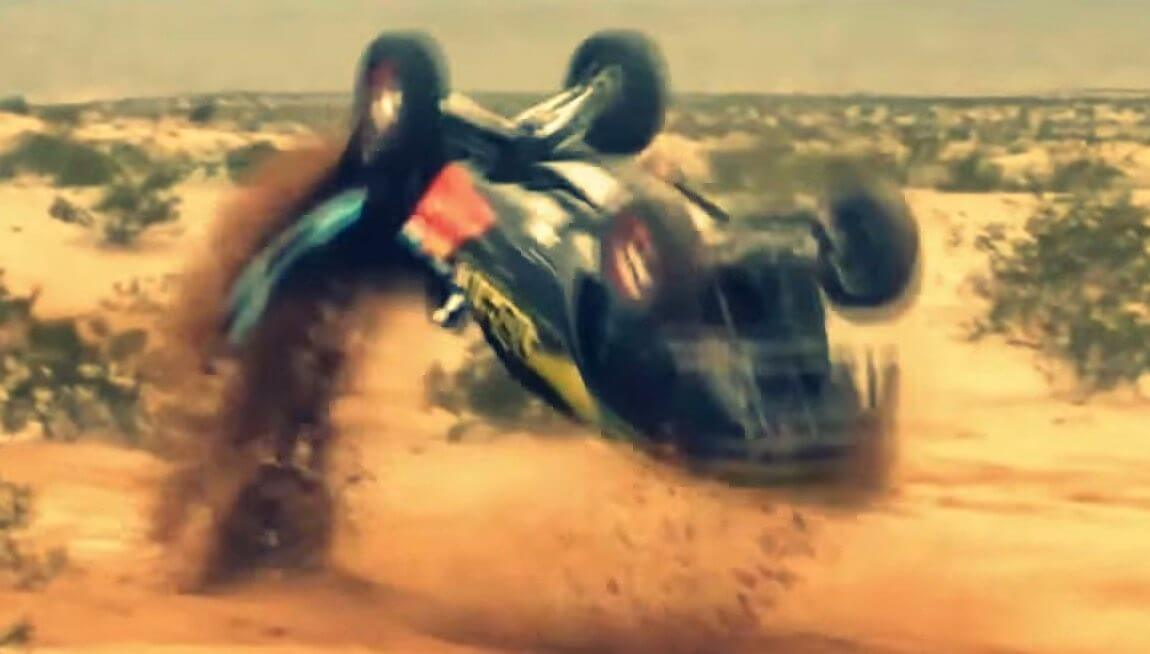Offroad-Racer-Flips-And-Keeps-Going