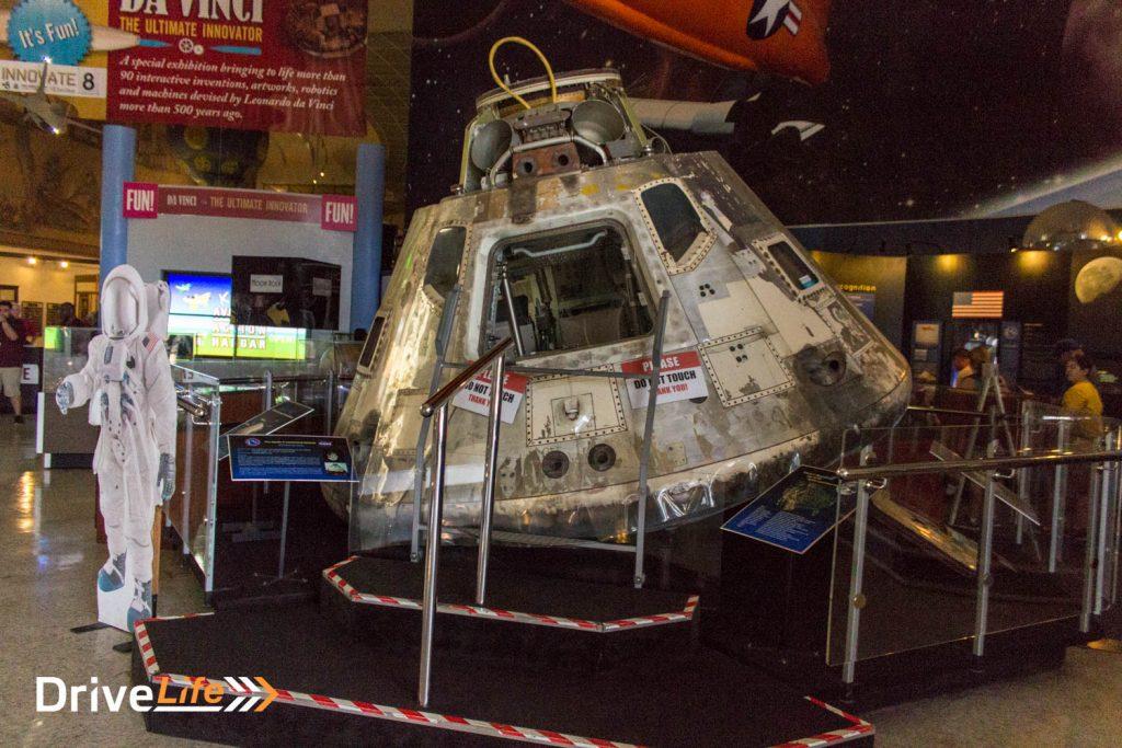 Apollo 9 landing module as you walk in the door