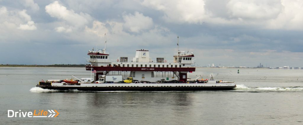 One of the free Galveston ferries