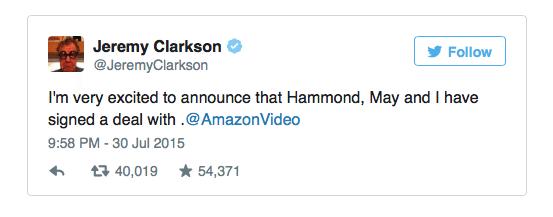 Clarkson twitter amazon2015