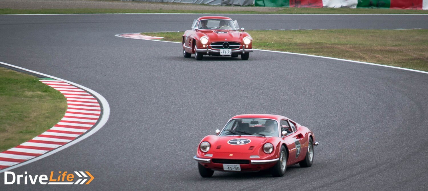suzuka-sound-of-engine-2016-ferrari-dino-mercedes-benz-300sl-gullwing