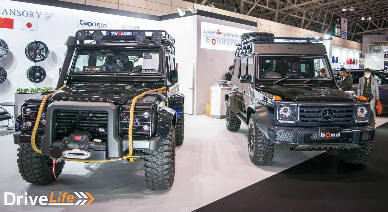 tokyo-auto-salon-2017-land-rover-defender-mercedes-benz-g-class