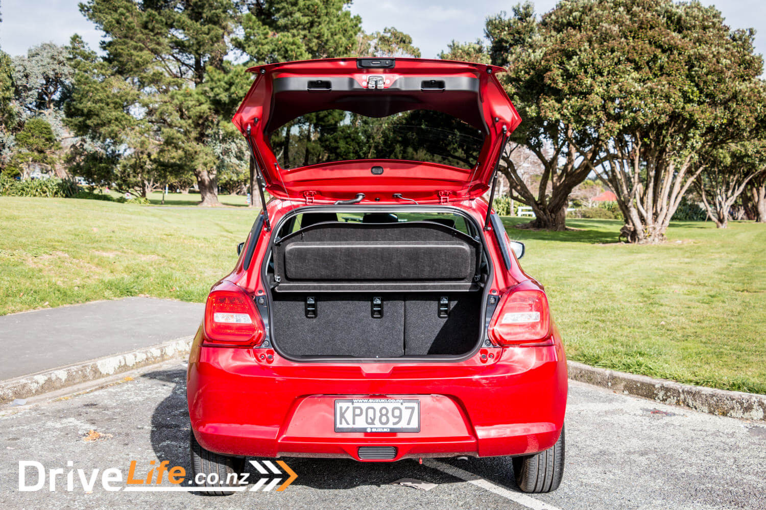 2017 Suzuki Swift Rs Car Review By Name Drivelife Motor Blower Honda All New Jazz Ori A Rear Foglight Isnt Required In Zealand So Theres Black Plastic Blanking Plate Instead Little Things But They Add Up To Take The Shine Off