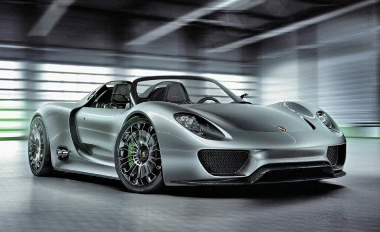 Porsche list price for the 918 Spyder Hybrid Supercar