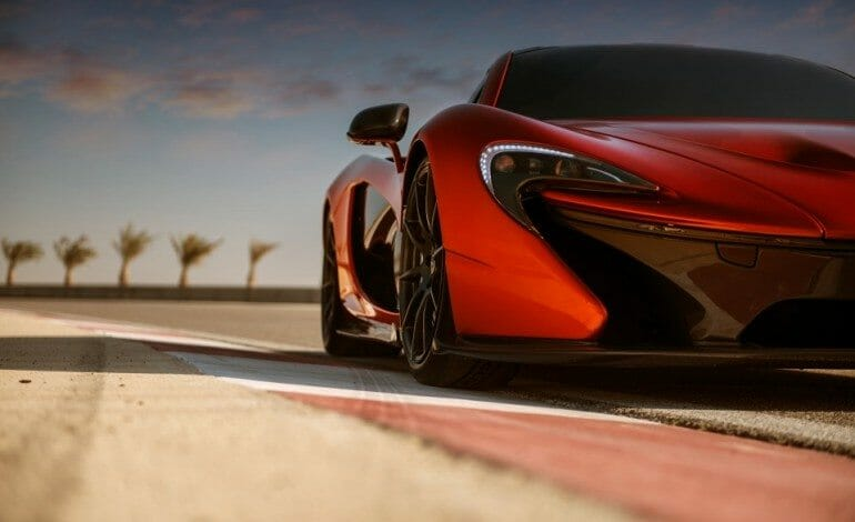 McLaren P1 photoshoot at Bahrain's International Circuit