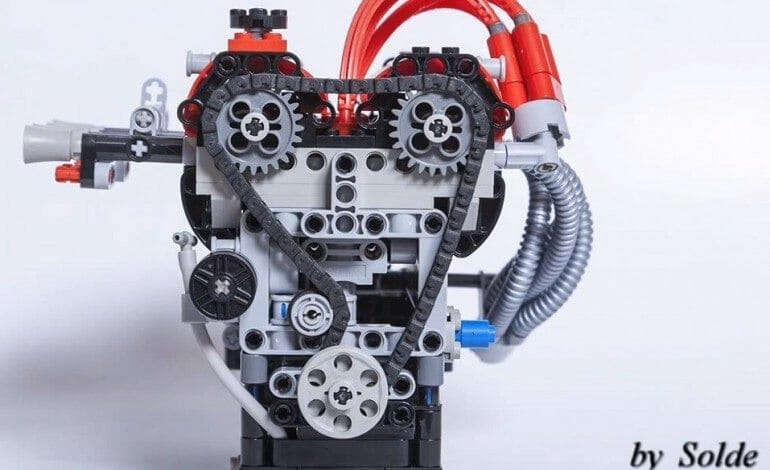 LEGO Toyota 4AGE Engine 16v Twin cam
