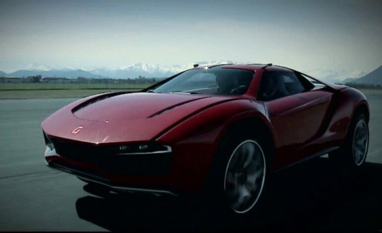 ItalDesign Giugiaro Parcour, the supercar with ground clearance.