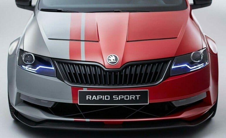 Skoda's answer to the Audi RS4?… Rapid Sport Concept