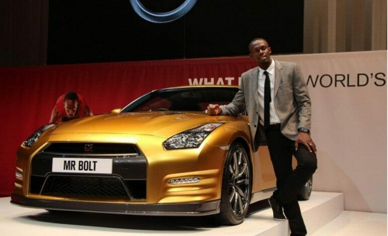 Bolt gets a Gold GT-R