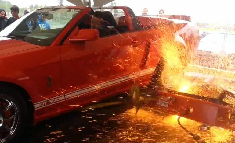 Shelby GT500 destroys dyno