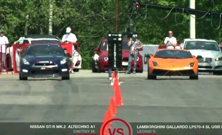 How fast is a Lamborghini Gallardo with 2000 hp