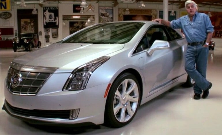 Jay Leno checks out the Cadillac's ELR
