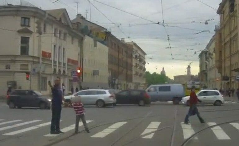 Russian Father Shoots at Car for Not Giving Way at a Cross walk