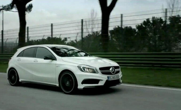 A 45 AMG at the AMG Driving Academy with Lance David Arnold