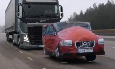 Volvo Tests Trucks New Emergency braking System