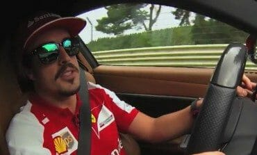Alonso interview, while tracking an F12 at the Nordschleife