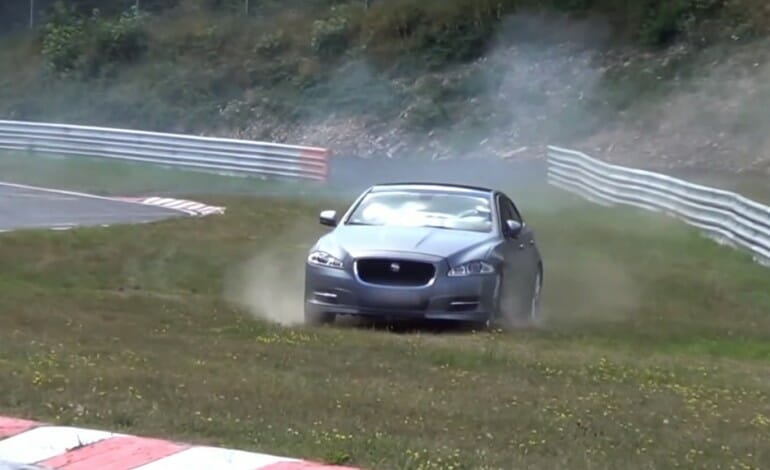 Jaguar XJ Supersport Nurburgring Taxi Crashes on Hot Lap