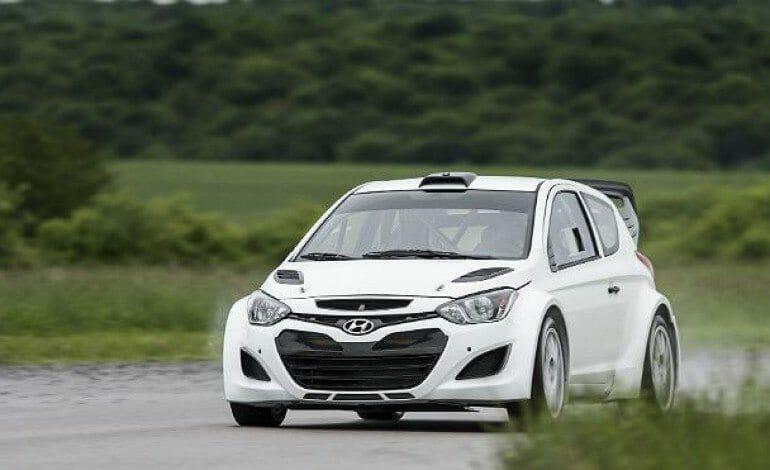 Hyundai's i20 WRC shakedown in Finland.