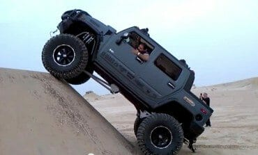 Jacked up Arab Hummer