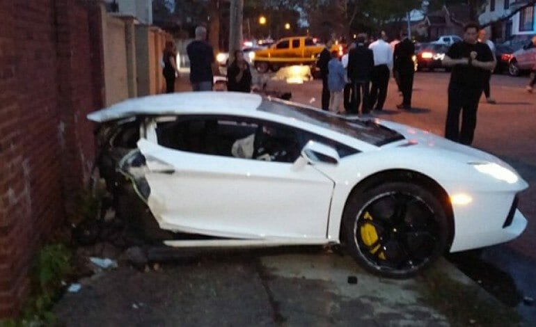 Lamborghini Aventador Split In Half In NY – Video