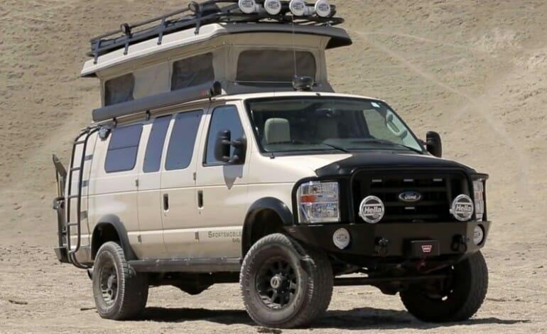 Sportsmobile 4×4 Ford Van – offroad camper