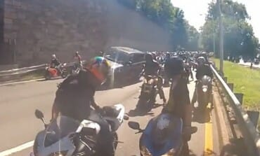 disturbing video - Bikers vs Range Rover