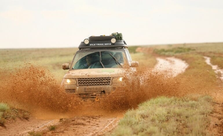 insane 16,853km Silk Trail Expedition with the RangeRover Hybrid Prototypes