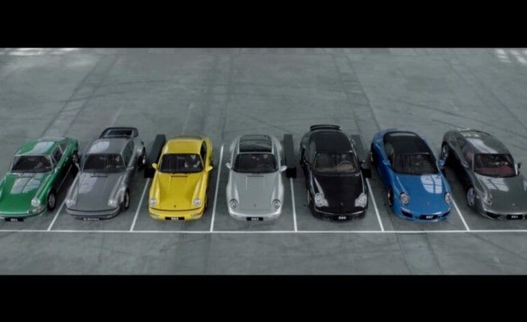 7 generations of Porsche 911 / Symphony