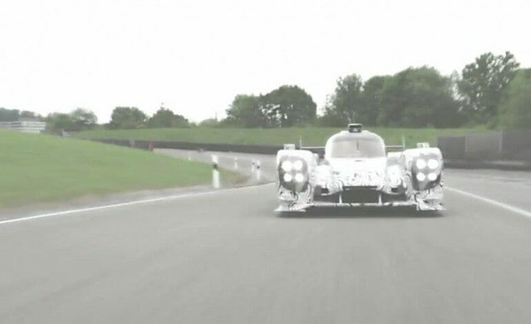 Porsche Roll Out Their LMP1 Race Car