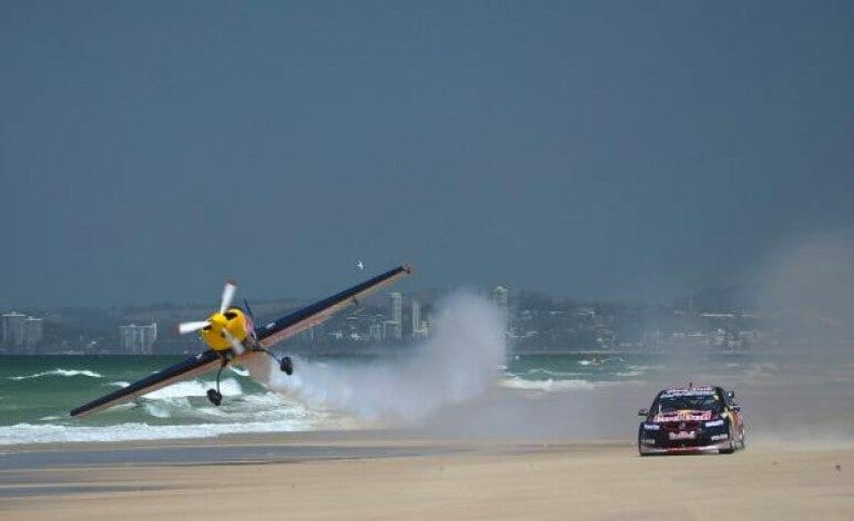 When a V8 Supercar and Aerobatic Plane come together