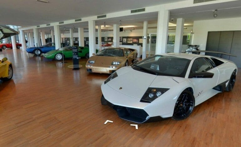 Inside Museo Lamborghini, Thanks to Google Maps