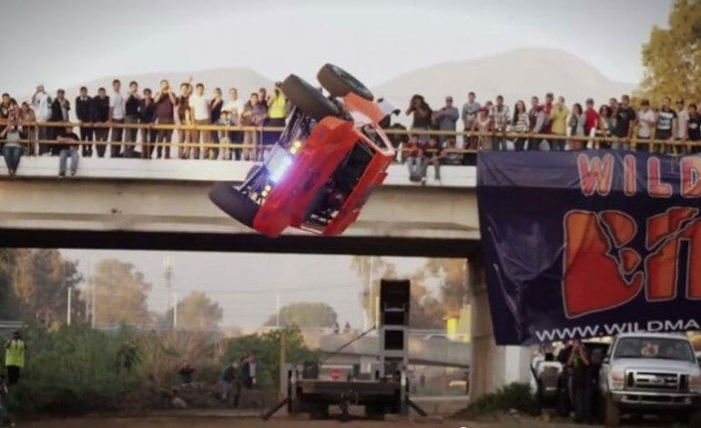 Does a barrel roll…. on purpose, at the Baja 1000