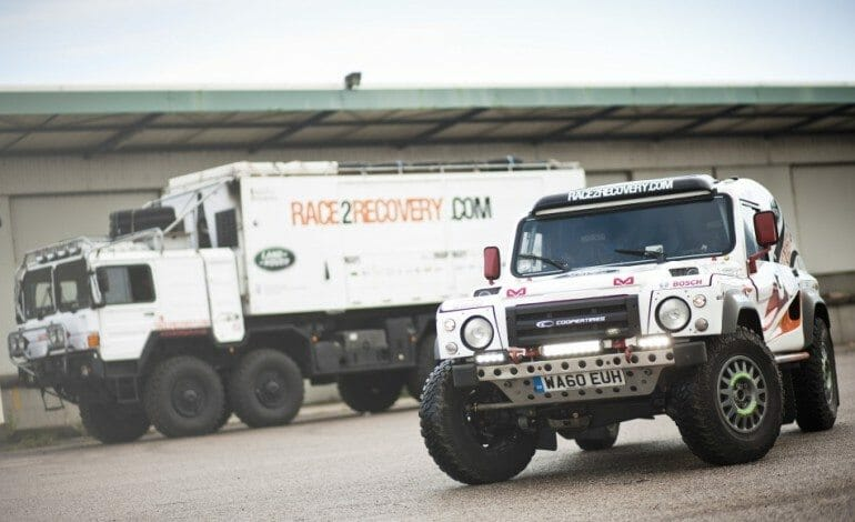 LandRover Race2Recovery off to Dakar