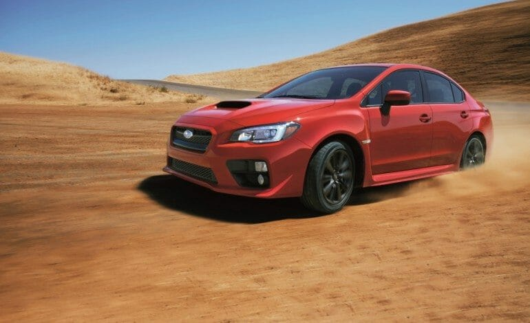Blast down dirt roads in the new 2015 WRX
