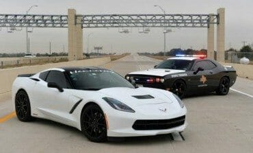 Hennessey C7 Corvette Runs 200 MPH On A Texas Toll Road