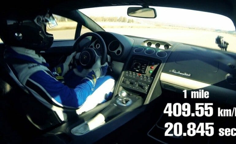 Forget Quarter Miles Times, This Lambo Does One Mile in 20.845 second at 409km/h, WOW