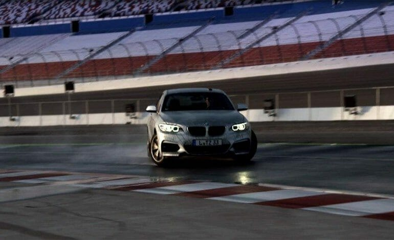 BMW M235i Drifts Itself