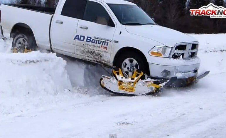 Who needs chains when you can have tracks for snow.