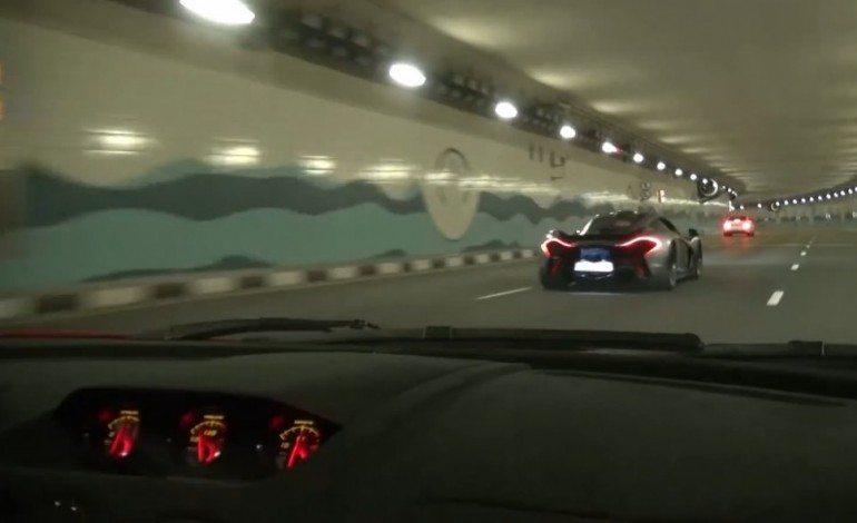 Lamborghini LP570-4 Super Trofeo Stradale And McLaren P1 Blast Around Dubai