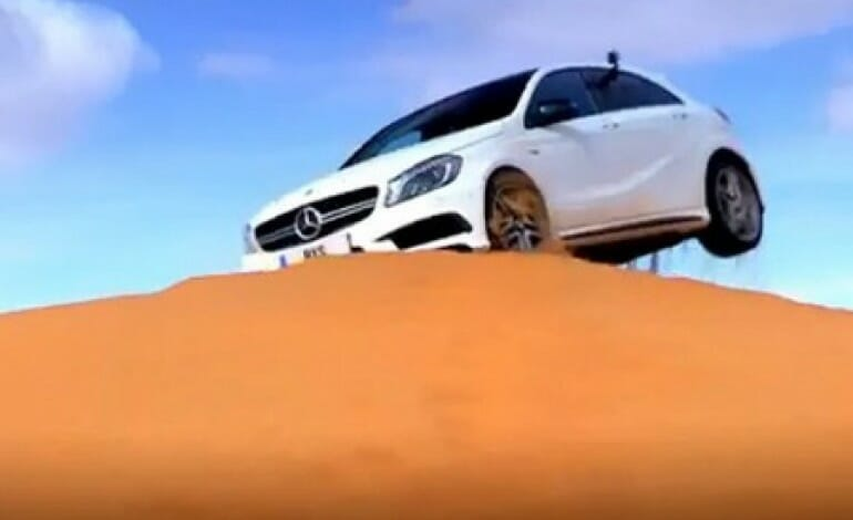 Mercedes A 45 AMG hits the dunes