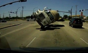 Dash Cam's Terrifying Cement Truck Head On Crash
