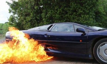 Flaming Jaguar XJ220 Burnouts, That Is All
