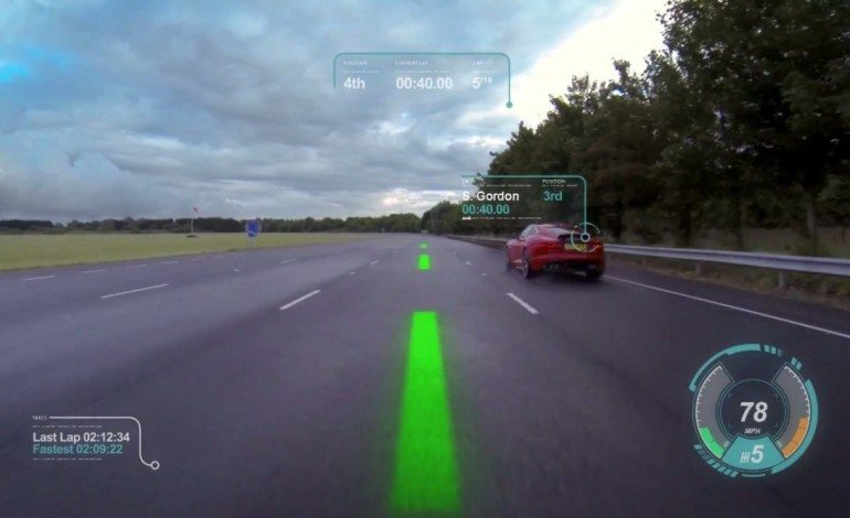 Jaguar's MindBlowing Virtual Windscreen Concept