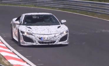 2015 Honda NSX spotted at the Nordschleife